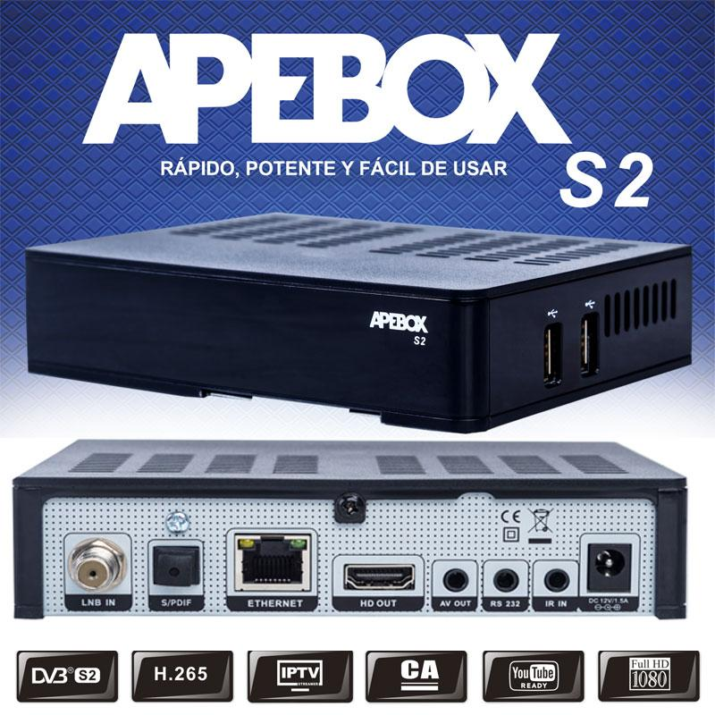 Apebox S2 Receptor Satélite HD