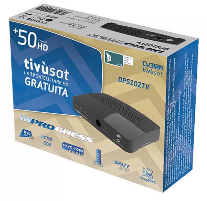 Tivusat Receptor Satélite Auriga DIPROGRESS DPS102TV