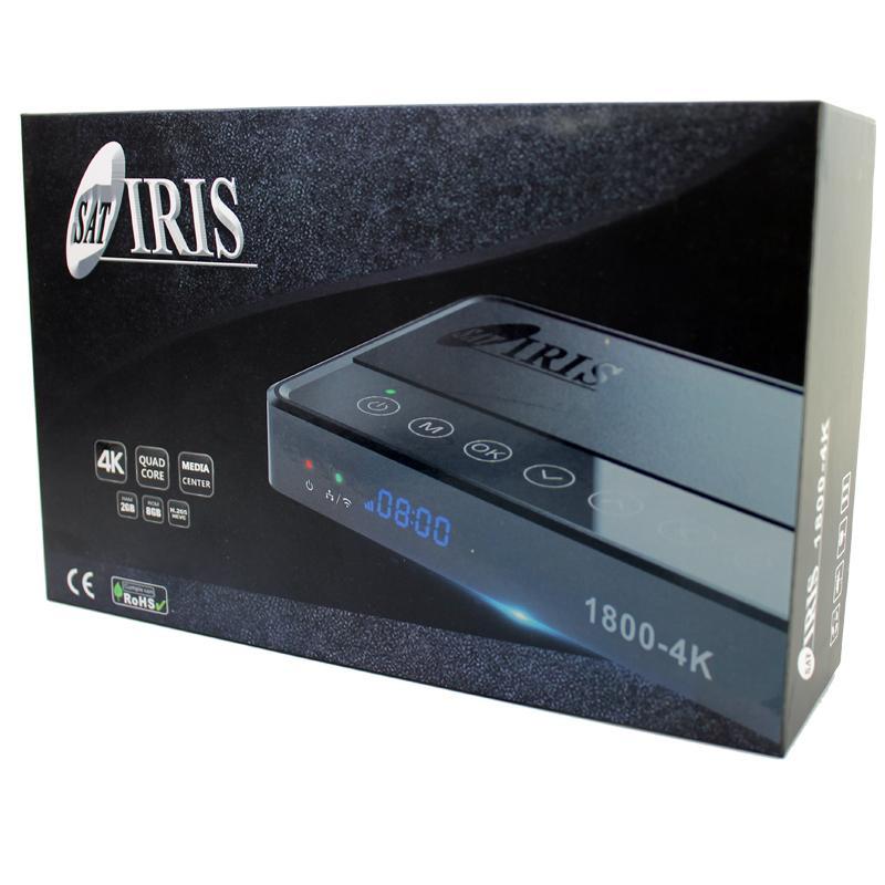 IRIS 1800-4K - IRIS 1800 4K Receptor Satélite con sistema operativo Android 7.1