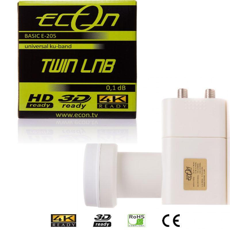 ECON LNB Twin E-205 (0,1db) 2 Salidas Universales