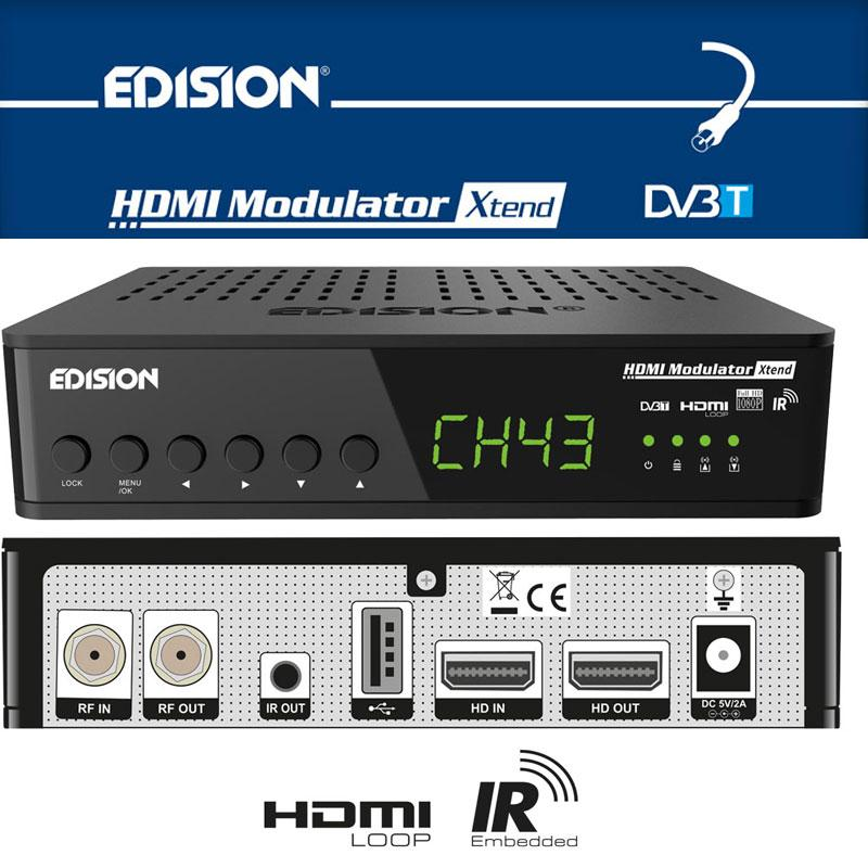 MODULATOR EDISION HDMI Xtend - EModulator Xtend Full HD monocanal de HDMI a DVB-T y función de Mando a distancia