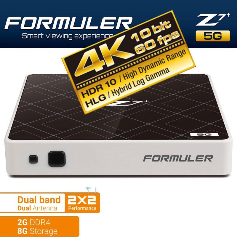 Fórmuler Z7+ 5G - Formuler Z7 5G DUAL WIFI diseñado con máximas opciones de conectividad y tecnología.