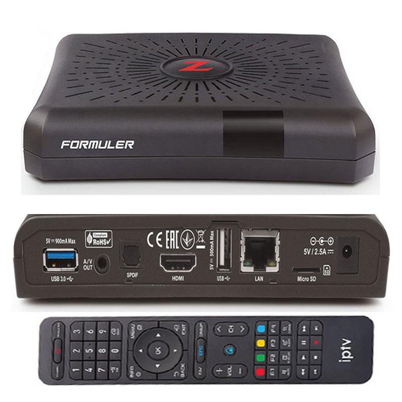 Formuler Z Receptor IPTV - Full Conectividad. Formuler Z diseñado con máximas opciones de conectividad.