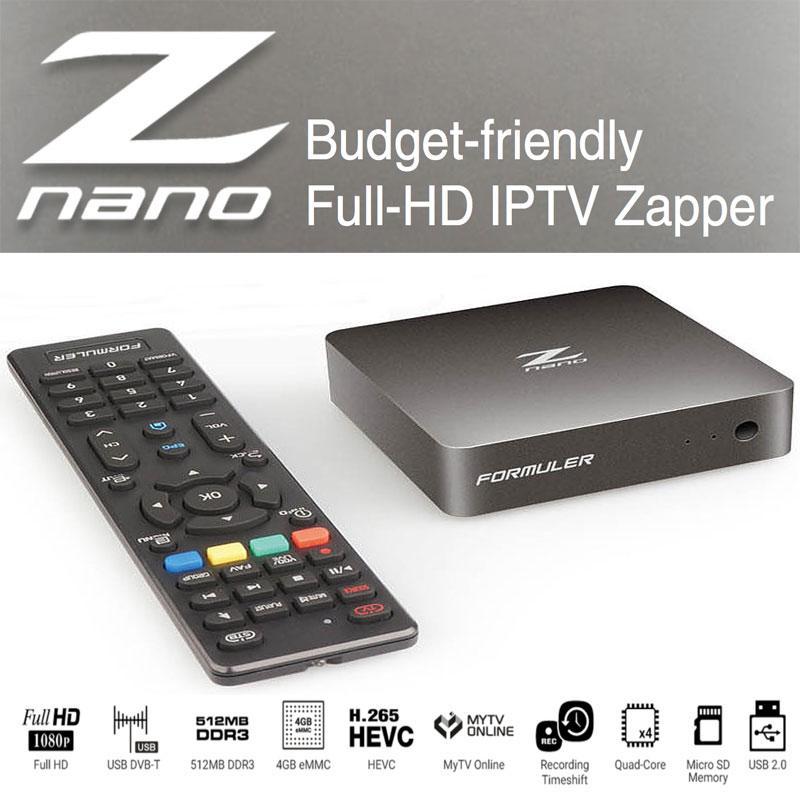 Formuler Z Nano Receptor IPTV - Formular Z Nano con MYTVOnline es la perfecta manera de disfrutar del contenido OTT / IPTV con un presupuesto ajustado.