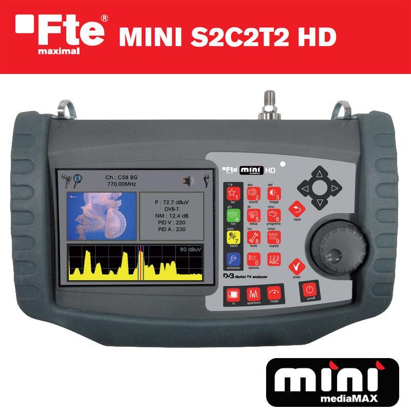 FTE MINI S2C2T2 Medidor de Alta Definición - Diseño y fabricación Europeo, lo que permite monotorizar y garantizar al máximo la calidad del medidor.
