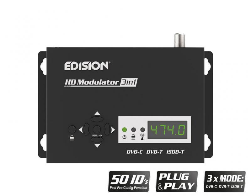 Modulador Edision HDMI 3 en 1