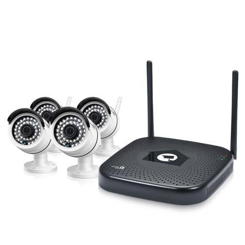 Kit CCTV WiFi 960P Kits 4 canales + 2 cámaras + 5 sensores/alarma + Disco Duro 1TB - Kit Homeguard CCTV Wifi 960P Kits 4 canales + 4 cámaras. Sistema de videovigilancia HD inalámbrico y alarma para monitorear y proteger tu hogar 24/7.