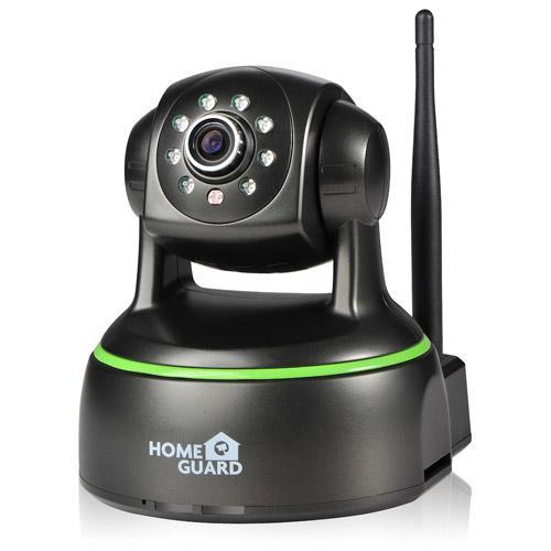 Cámara interior 1080p Full HD WiFi con control remoto - La cámara HomeGuard HD 1080P inalámbrica es una cámara IP de 1080P muy simple de utilizar que se puede colocar dentro del hogar y es teledirigida de su computadora, tableta o SmartPhone.