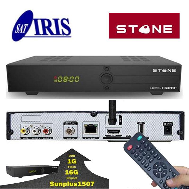 IRIS STONE Receptor Satélite - Receptor de satélite ideal con una calidad de imagen nítida en todos los programas de televisión.