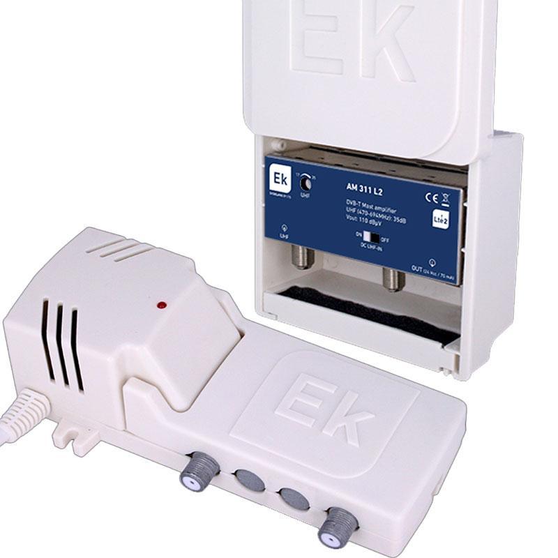 Kit Ekselans Amplificador Mástil AM311L + Fuente Alimentación FA121