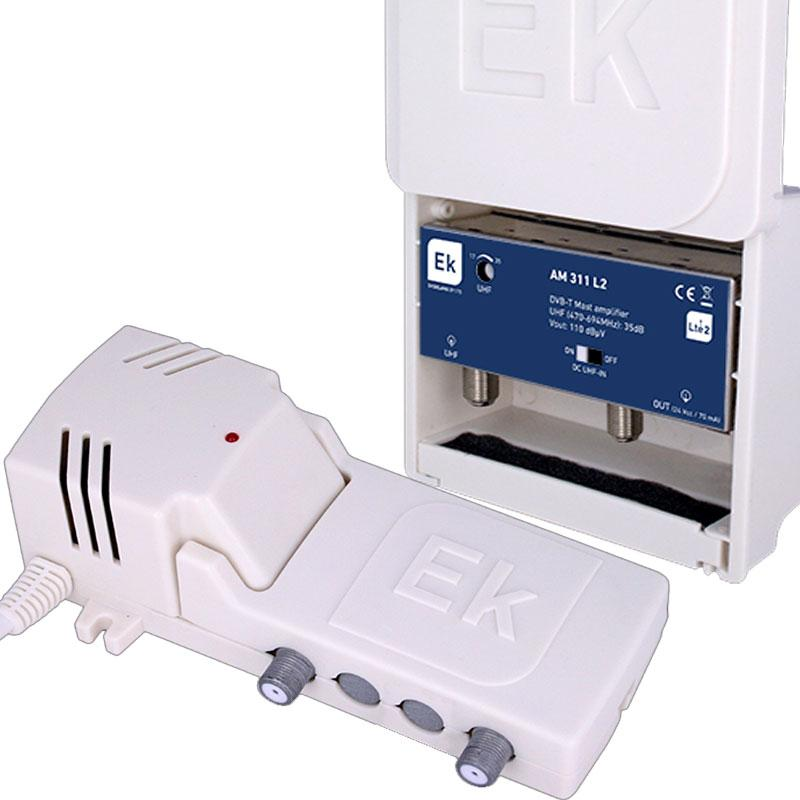 Kit Ekselans Amplificador Mástil AM312L + Fuente Alimentación FA121