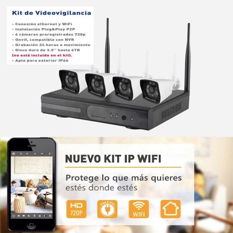 Kit Cámaras de Seguridad IP wifi