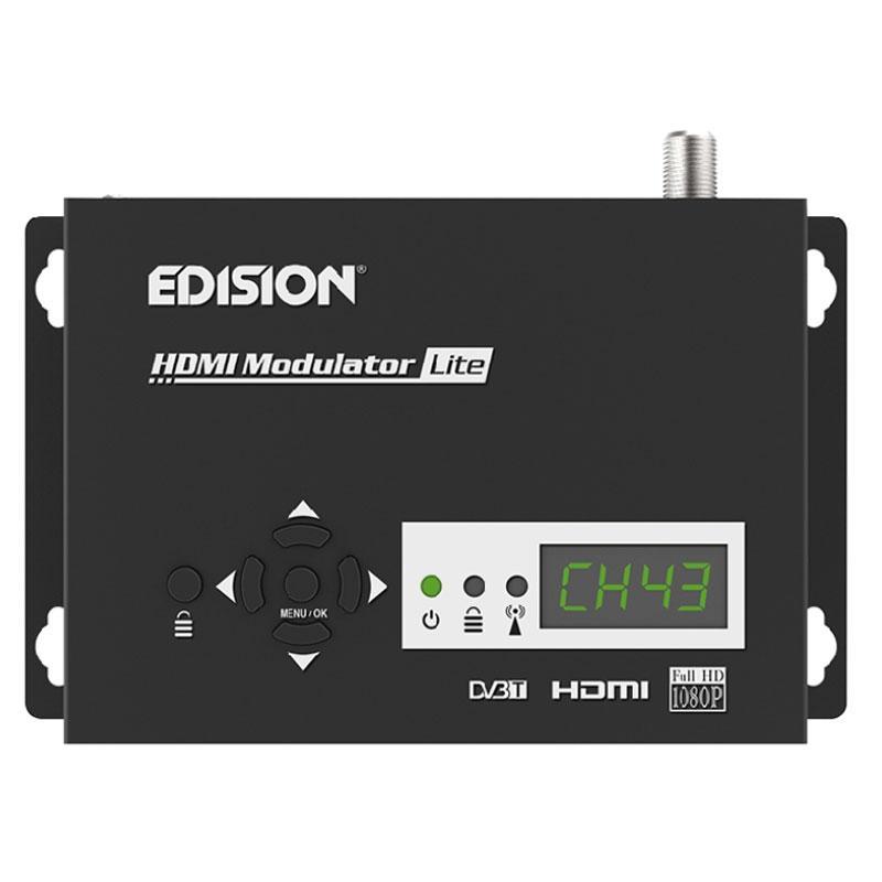 Modulador Edision HDMI Lite - Modulador digital HDMI DVB-T MPEG4 FULL HD de sencilla programación.