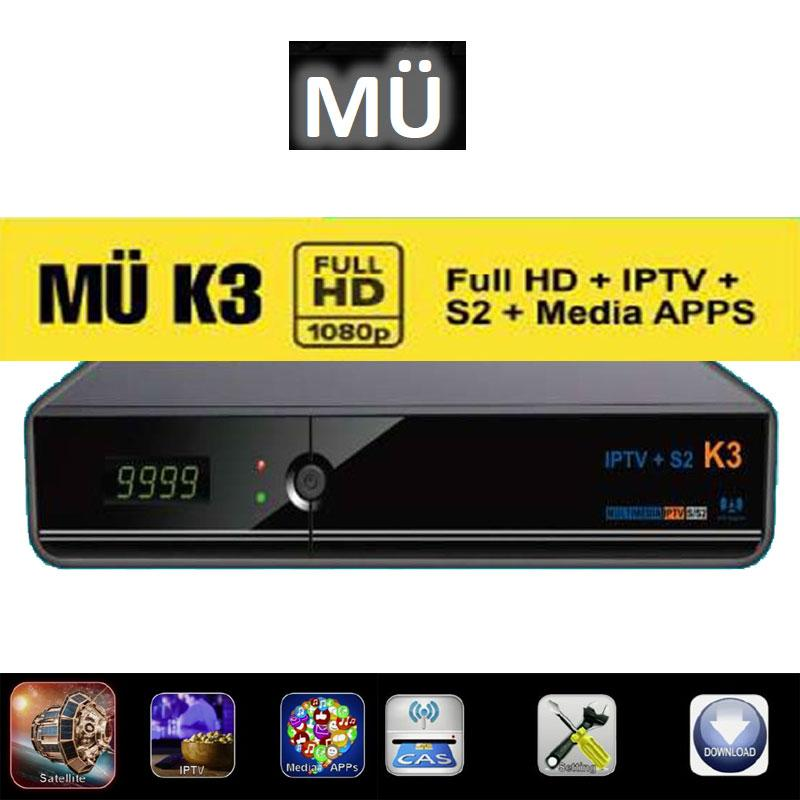 MuK3 S2 H-264 + IP - K3 FHD H.264 Full HD 1080p Auto Update DVB-S2 tuner ready Multimedia IPTV