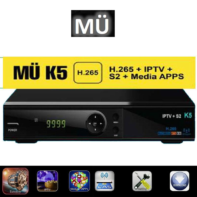 MuK5 S2 H-265 + IP - K4 FHD H.265 Full HD 1080p Auto Update DVB-S2 tuner ready Multimedia IPTV