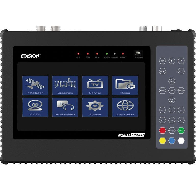 Multifinder Medidor de Campo DVB-S2 - T/T2 - C - H265 y CCTV