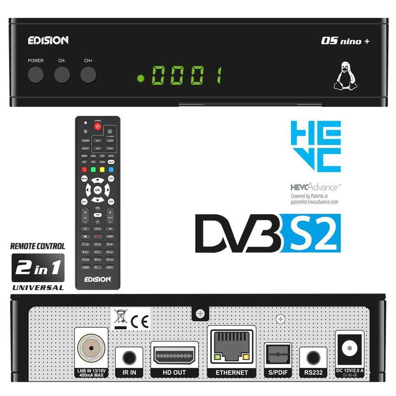 OS NINO+ DVB-S2 EDISION - Cambio de canal en menos de 1 segundo con la más alta calidad y el soporte integral de EDISION