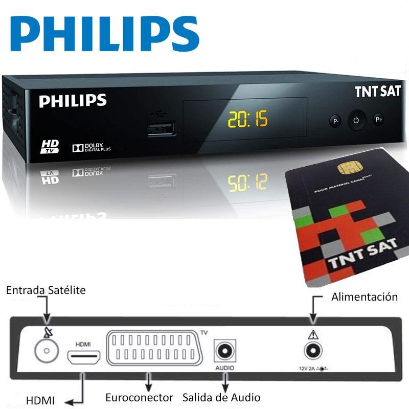 PHILIPS DSR3231T Receptor TNTSAT  HD + Tarjeta  Astra (19,2 °)