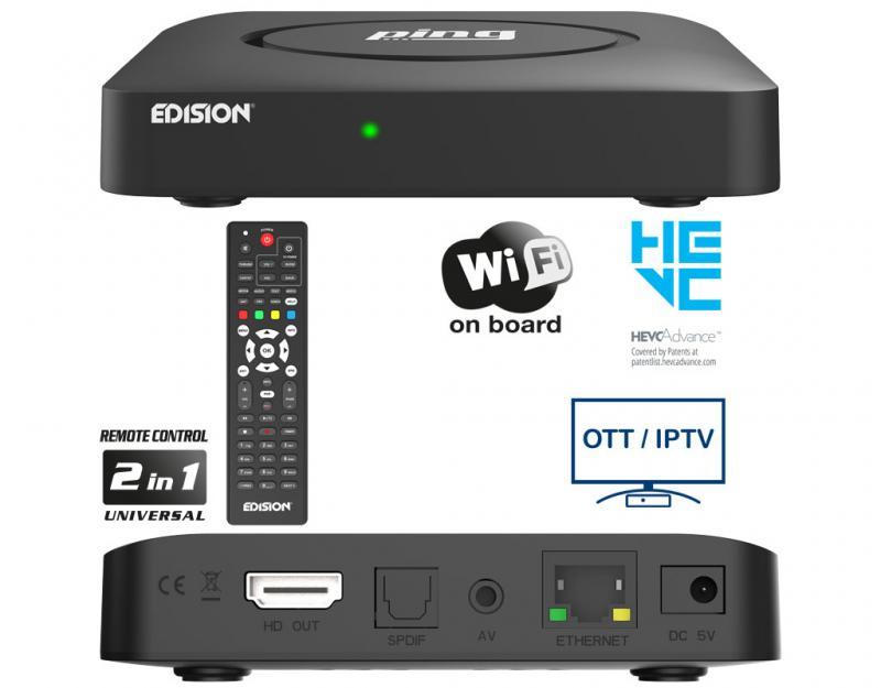 EDISION PING receptor IPTV WIFI