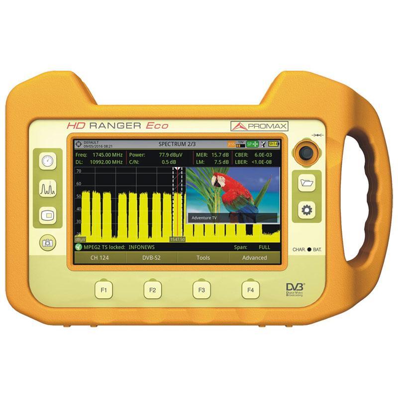 Promax HD Ranger ECO Medidor de Campo - Completo medidor SAT y TDT de fácil uso con grandes prestaciones. MEJORAMOS CUALQUIER OFERTA ¡¡¡LLAMANOS!!!