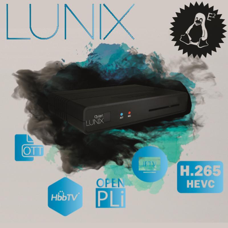 QviArt Lunix - Decodificador LINUX e IPTV FULL HD H265 HEVC HbbTV económico, pequeño y con buen diseño e inmejorable estabilidad.
