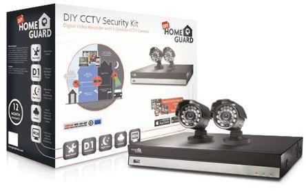 Kit CCTV 720P HD 4 canales + 2 cámaras + disco duro 1TB