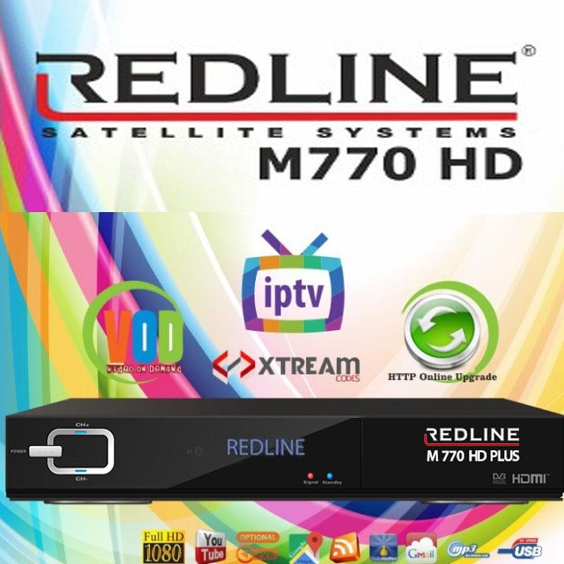 Redline M770 HD PLUS WIFI Receptor Satélite + Cable HDMI 4K
