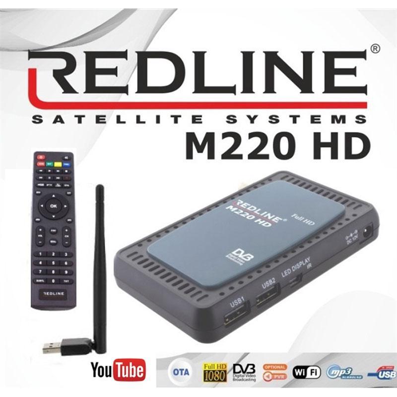 Redline M220 HD WIFI Receptor Satélite + Cable HDMI - Redline M 220 HD Wi-Fi con función de actualización en línea.