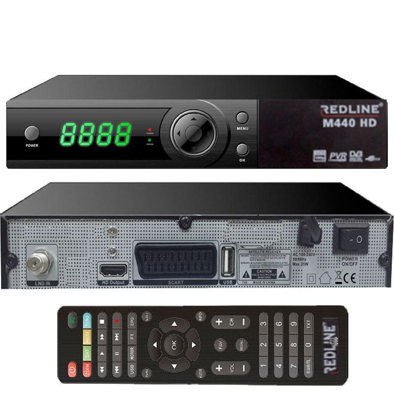 Redline M440 HD WIFI Receptor Satélite + Cable HDMI - Receptor Satélite de gran potencia