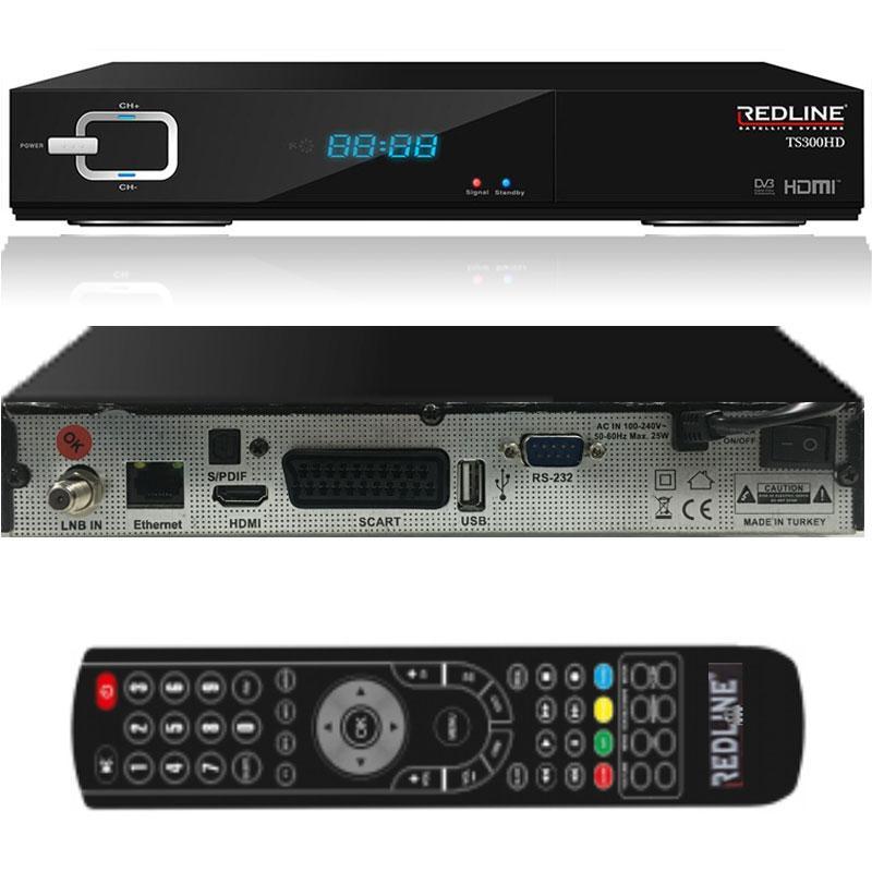 Redline TS 300 HD WIFI Receptor Satélite + Cable HDMI