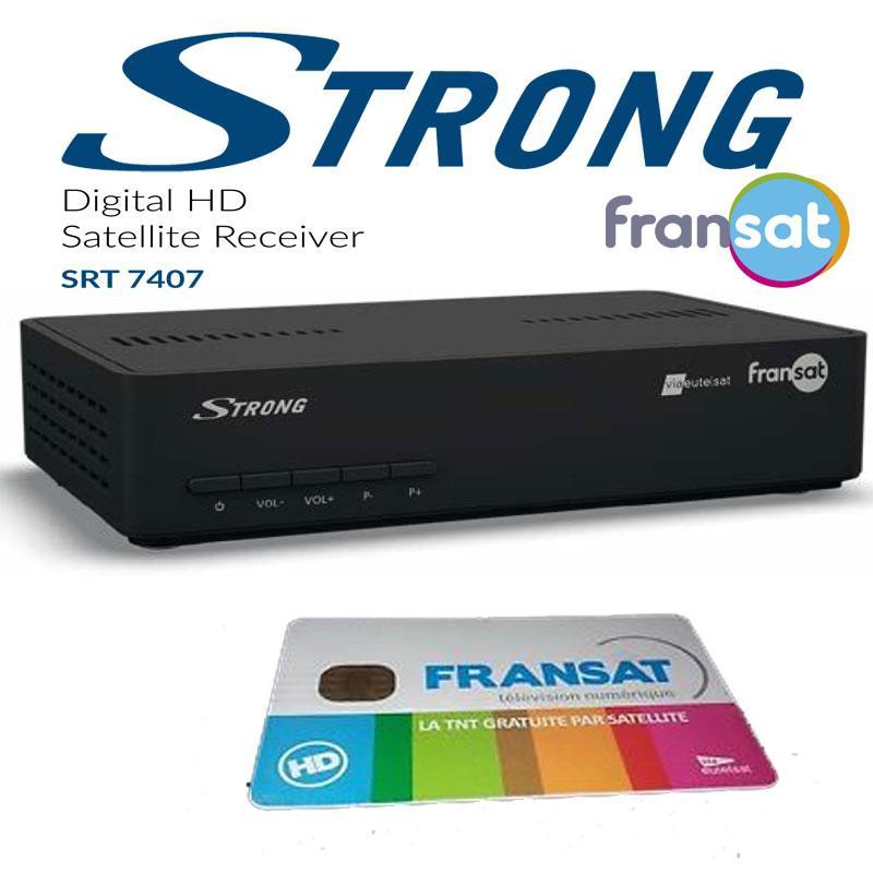 Receptor FRANSAT STRONG SRT 7407 - TDT HD por satélite + TARJETA (Eutelsat 5WA)