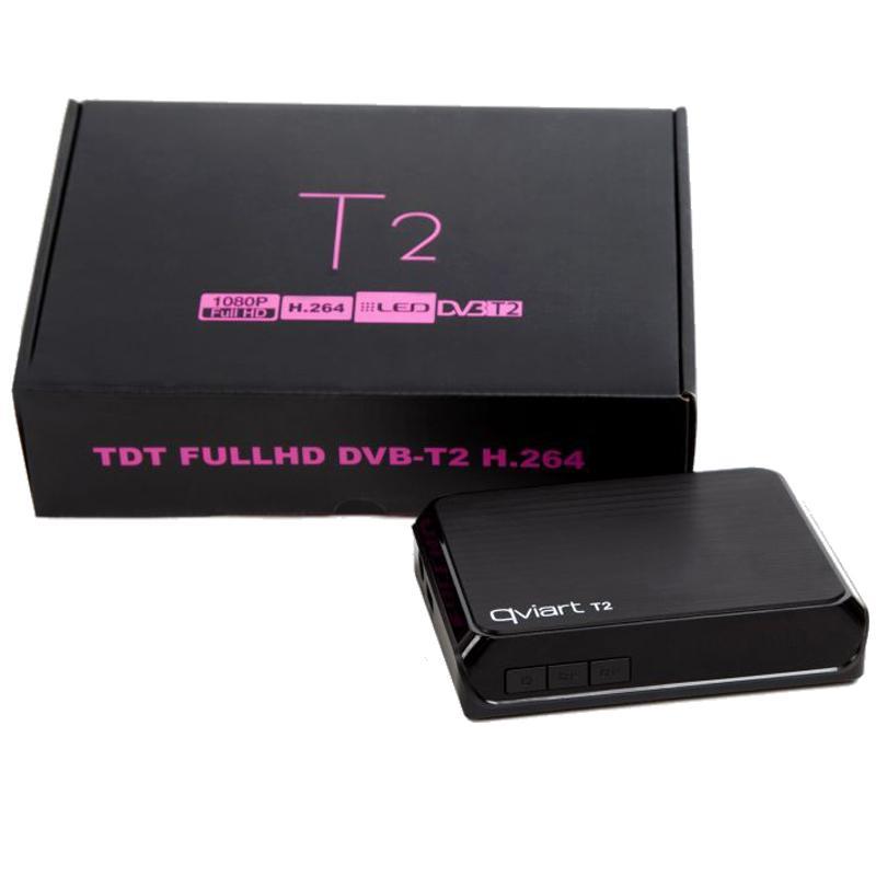 TDT Qviart de alta definición T2 H264 - Con el receptor TDT T2 H264 de Qviart podemos ver en nuestro televisor la televisión terrestre en HD