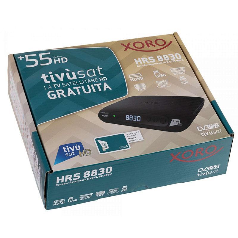 TivuSat Receptor Digital Satélite HD Xoro HRS 8830