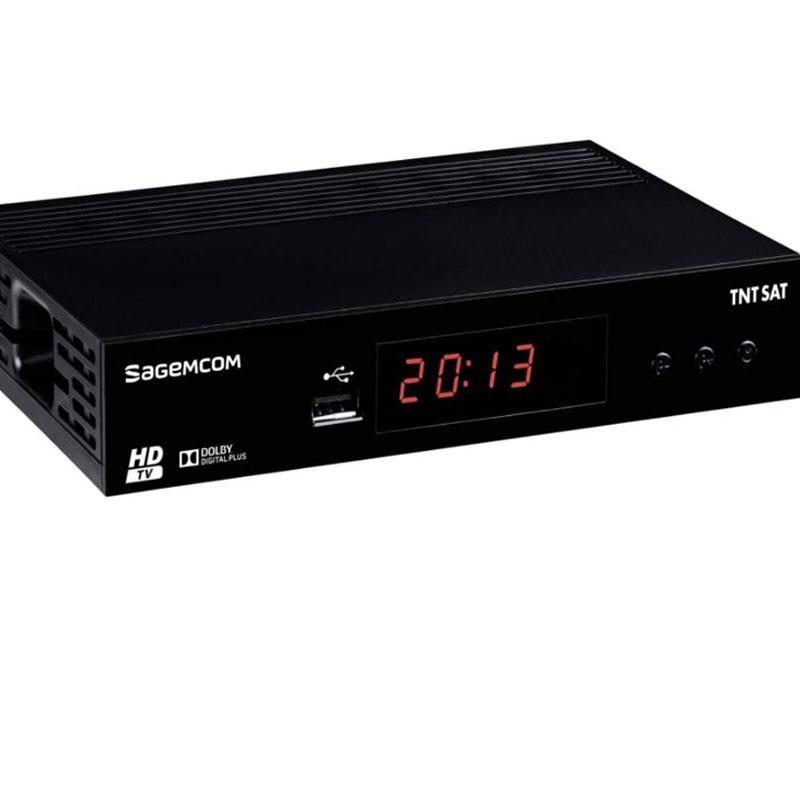 Receptor TNT SAT Sagemcom DS81 HD + Tarjeta TDT Sat V6 - Receptor satélite para la TNT francesa. 4 AÑOS de suscripción incluidos.