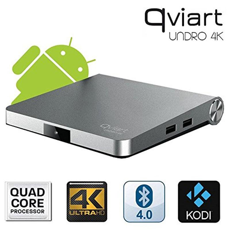 QviArt UNDRO 4K - Qviart Undro 4K Receptor Satélite Android 7.0 4K COMBO  H.265 HEVC WIFI