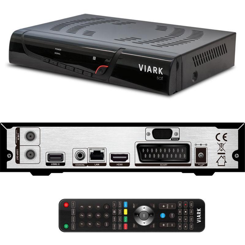 VIARK Sat HD Receptor Satélite + Cable HDMI 4K - Receptor Satélite en alta definición H265 HEVC
