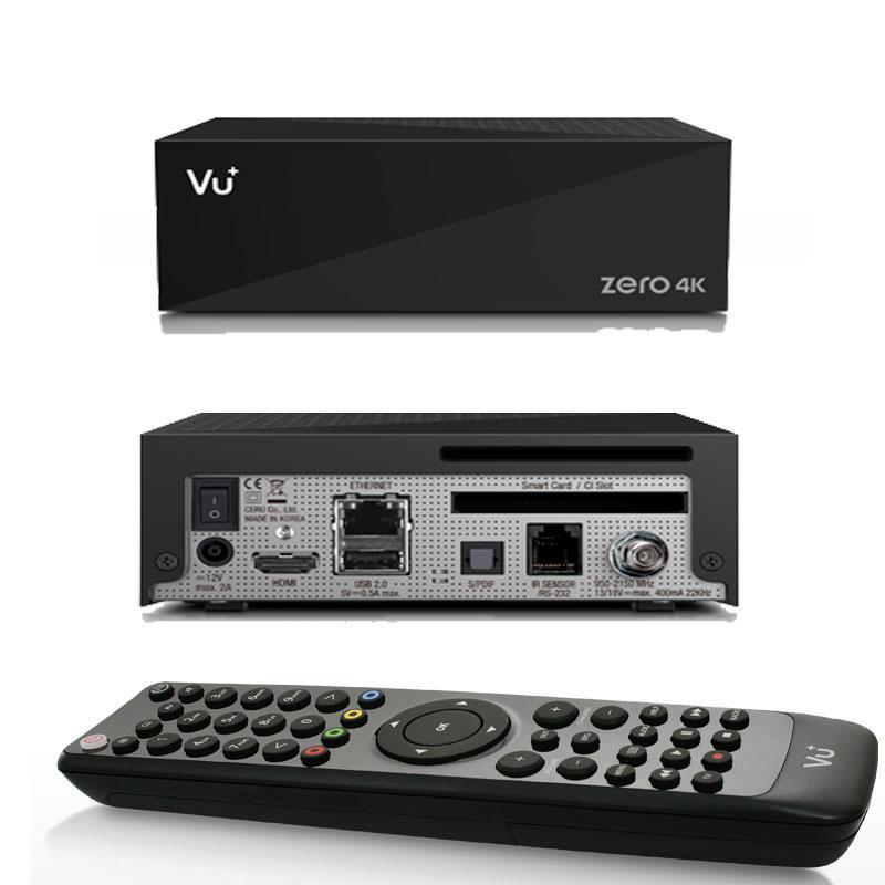 VU+ Zero 4K UHD H.265 HEVC Linux Enigma2 - El VU+ Zero 4K es la evolución UHD del famoso VU + Zero, el receptor más vendido de la marca VU+.